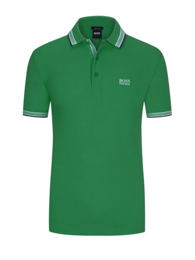 Sportliches Poloshirt, Paddy, Regular Fit in DUENKELGRUEN