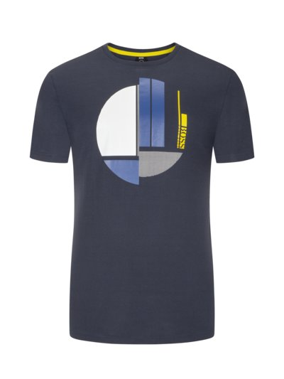 T-Shirt mit Frontprint in BLAU