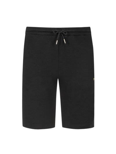 Sweat shorts in a cotton blend v BLACK