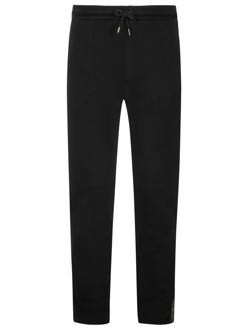 Boss Sweatpants with logo stripes on the side BLACK in plus size