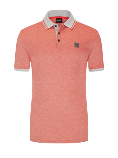 Poloshirt in melierter Optik in ROT