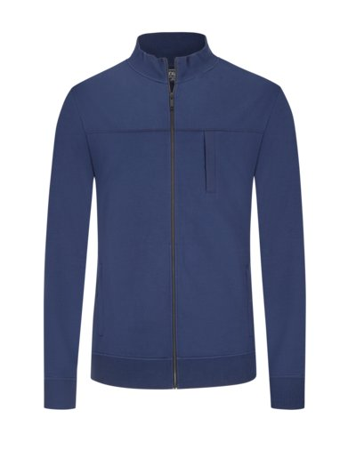 Sweatjacket with stretch content v BLUE