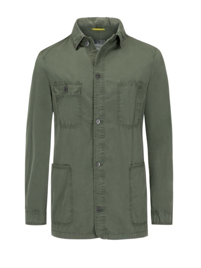 Casual jacket in an overshirt look v OLIVE-