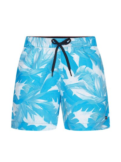 Swimming trunks with summery print v TURQUOISE*