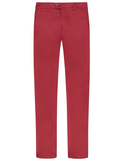 Cotton chinos, Jim, Regular Fit v RED