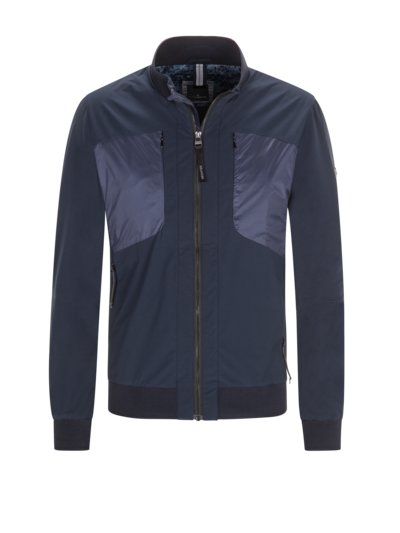 Blouson in mixed materials v BLUE