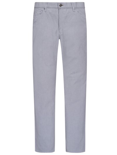 Five-pocket trousers with micro pattern, Cadiz v LIGHT BLUE