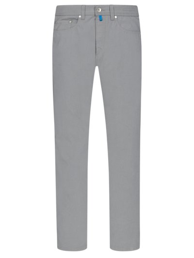 Five-pocket trousers with micro texture v GREY