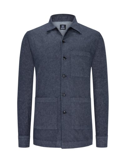 Modisches Overshirt im Denim-Look in DENIM
