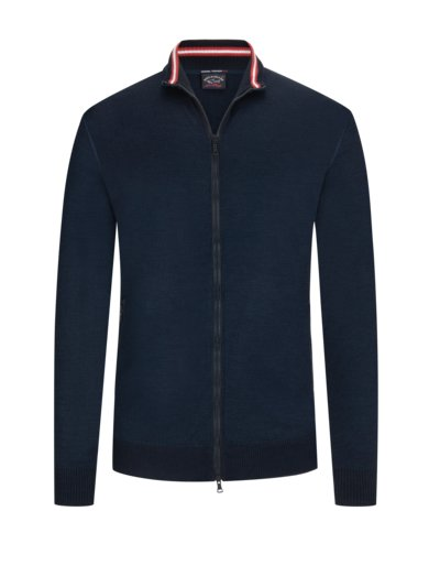 Cardigan in pure wool v BLUE