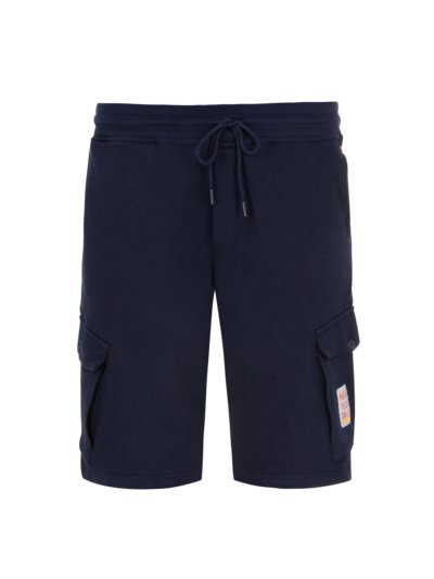 Bermuda sweat shorts with cargo pockets v MARINE