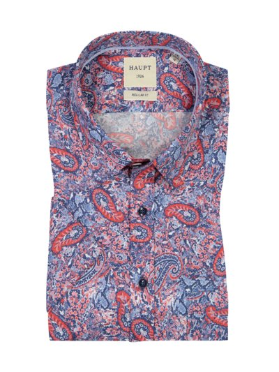 Short sleeve shirt with a breast pocket v BLUE