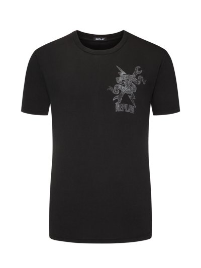 T-shirt with stylish print v ANTHRACITE