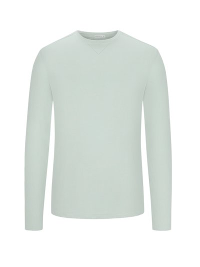 Long-sleeved shirt in pure cotton v GREY