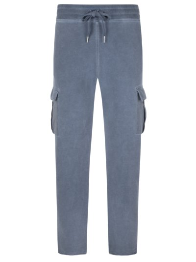 Jogging bottoms in a washed look with cargo pockets v BLUE