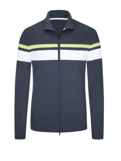 Golf jacket with contrasting stripes v GREY