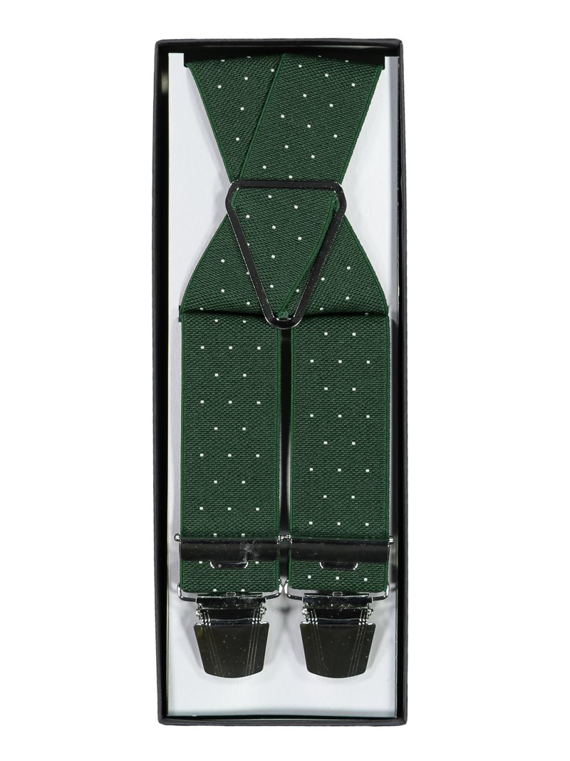 Günther Haus Suspenders with dot pattern MARINE in plus size