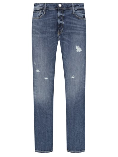 Jeans with used effect v BLUE