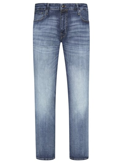 Jeans with super stretch v BLUE
