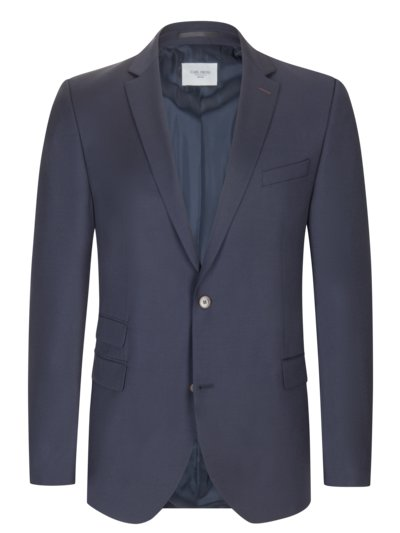 Blazer with micro texture and elbow patches v MARINE
