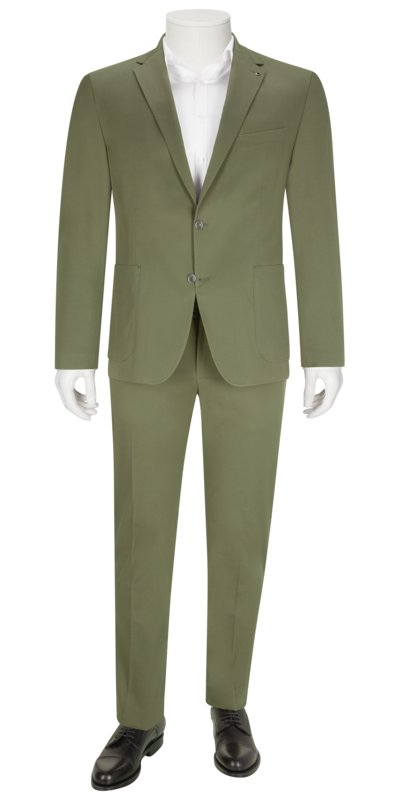 Suit separates suit with cotton stretch v OLIVE-
