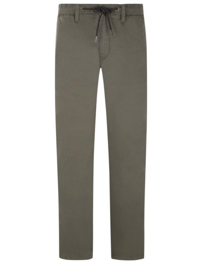 Chinos in a jogging bottom look with stretch v OLIVE-