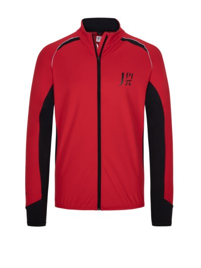 Jersey jacket with stretch content v RED