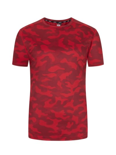 T-shirt with camouflage pattern in Flexnamic fabric v RED