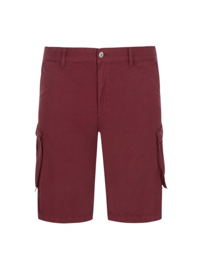 Stylish cargo shorts, Regular Fit v BORDEAUX