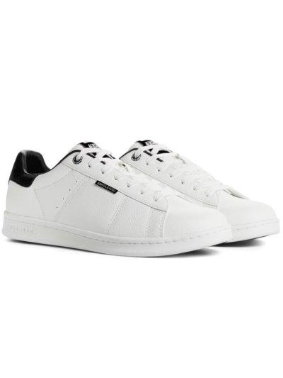 Sneaker in Leder-Optik in WEISS