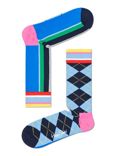 Patterned socks v LIGHT BLUE