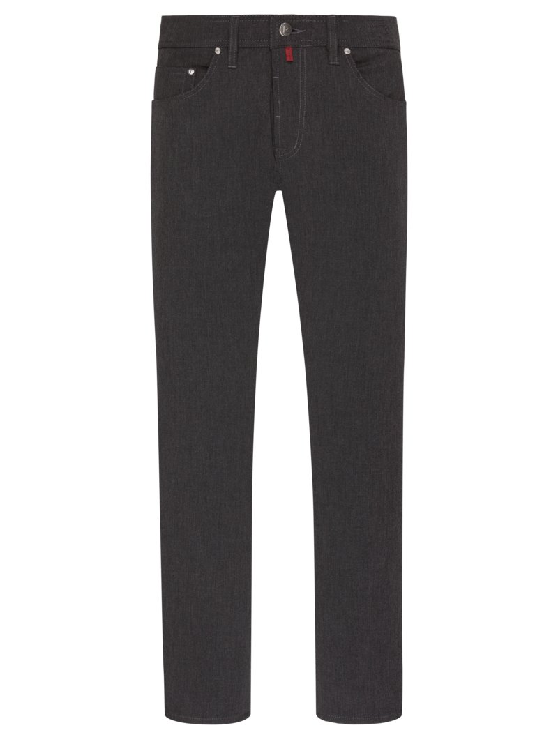 Pierre Cardin Five-pocket pants with stretch content ANTHRACITE in plus size