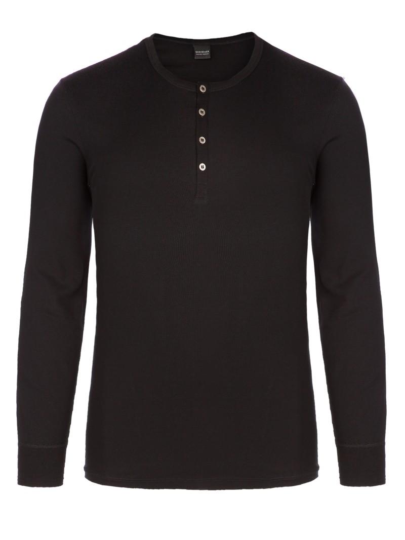 schiesser modisches serafino shirt schwarz herrenmode in. Black Bedroom Furniture Sets. Home Design Ideas
