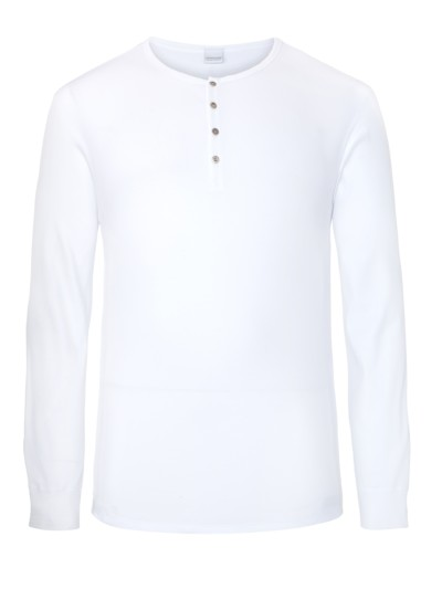 Modisches Serafino-Shirt in WEISS