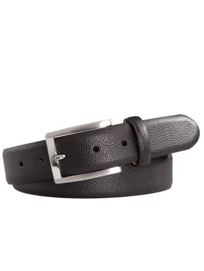 Engraved leather belt v DARK BROWN