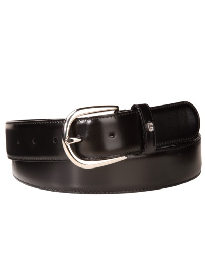 Designer belt v BLACK