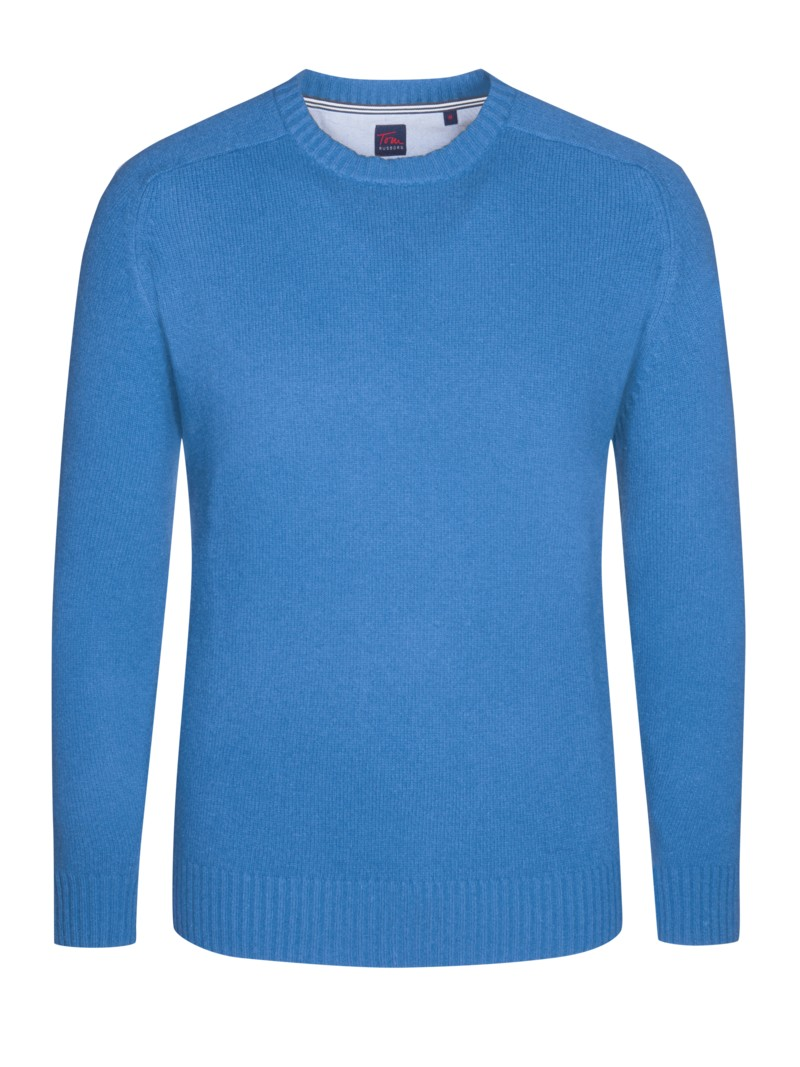 Pullover, O-Neck in HELLBLAU