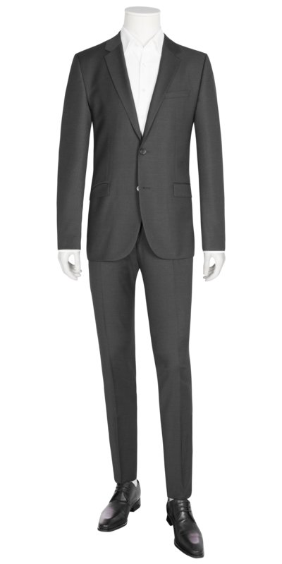 Businessanzug in feiner Minimalstruktur, Astian/Hets, Extra Slim Fit in ANTHRAZIT
