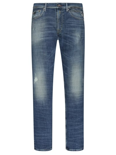 Used Jeans, Jondrill, Slim Fit in BLAU