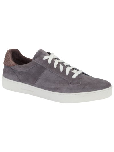 Eleganter Sneaker, Velours-Leder in ANTHRAZIT