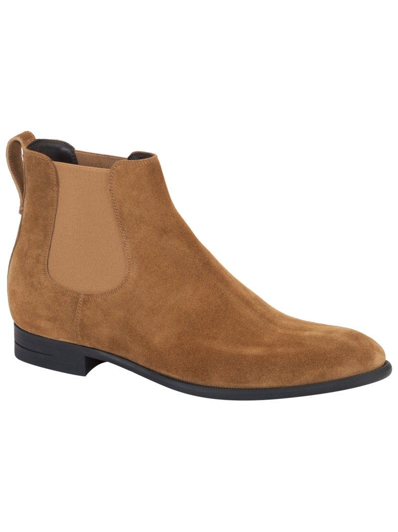 Chelsea-Boot, Velours-Leder in COGNAC
