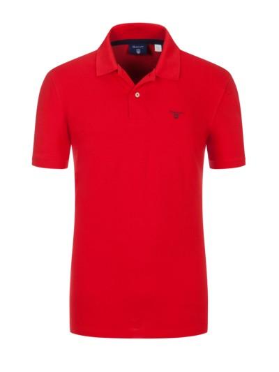 73893247b51cb9 Piqué-Poloshirt, 100% Baumwolle in ROT