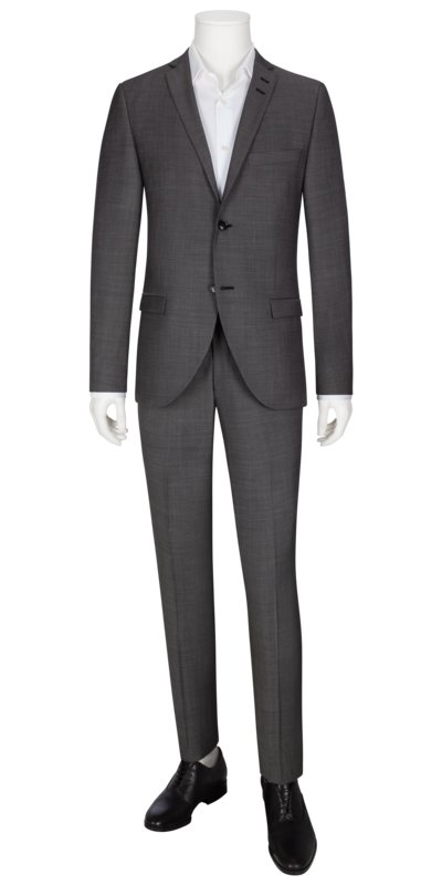 Businessanzug, Jile/Tordon, Slim Fit in GRAU