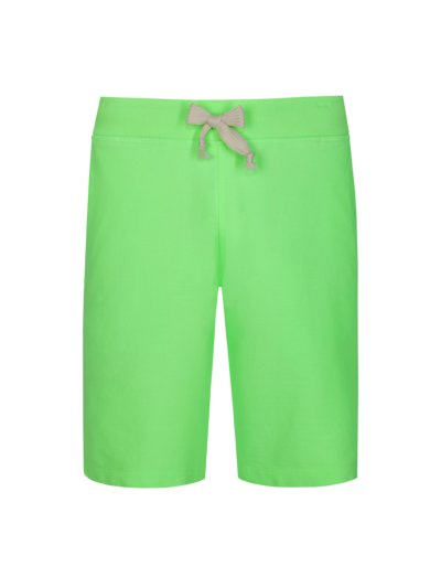 Kurze Sweatpants in coolem Neon-Look in HELLGRUEN