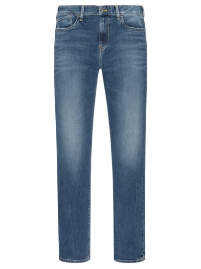 Jeans mit Stretchanteil, Slim Fit in STONE