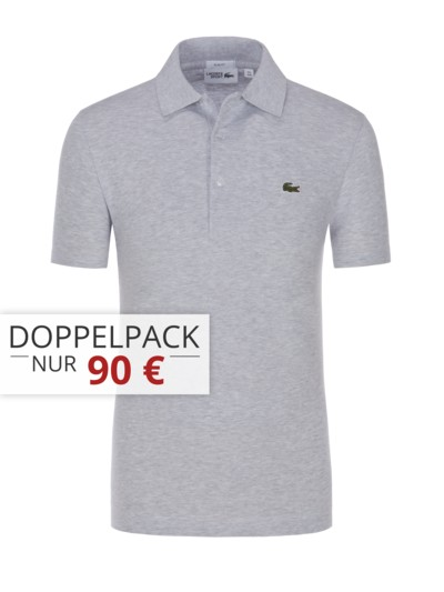 Slim Fit Poloshirt in Waffel-Pique-Struktur in MARINE