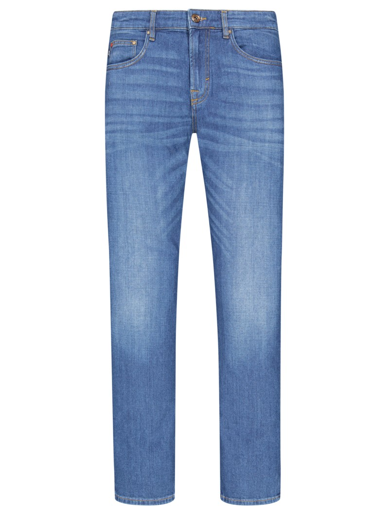 Stretch-Jeans, mit Left-Hand Denim, Mitch, Modern Fit in HELLBLAU