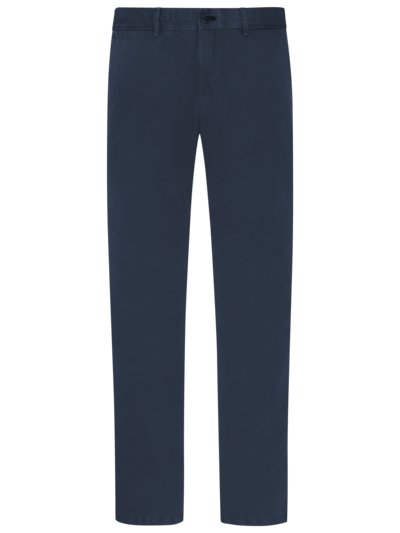 Chino mit Leinenanteil, Modern Fit in MARINE