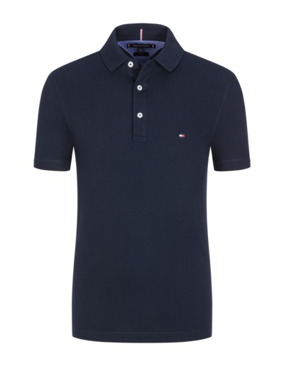Poloshirt in Piqué-Baumwolle, Slim Fit in MARINE
