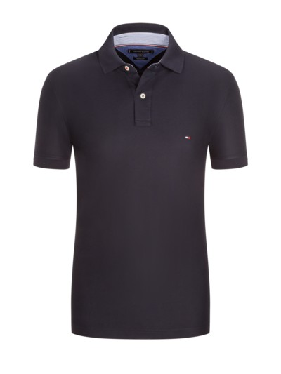 Poloshirt in reiner Baumwolle, Regular Fit in MARINE
